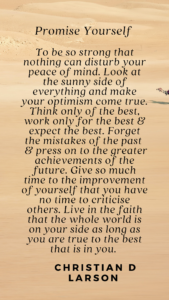 The Optimist Creed by Christian D Larson