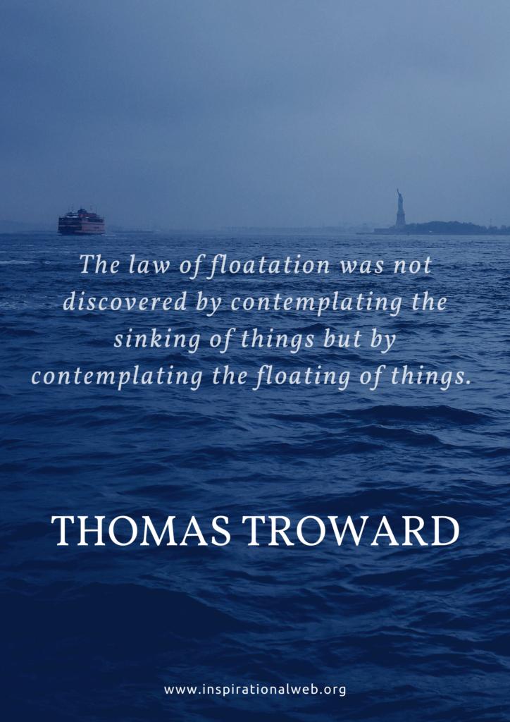 thomas troward quotes floatation