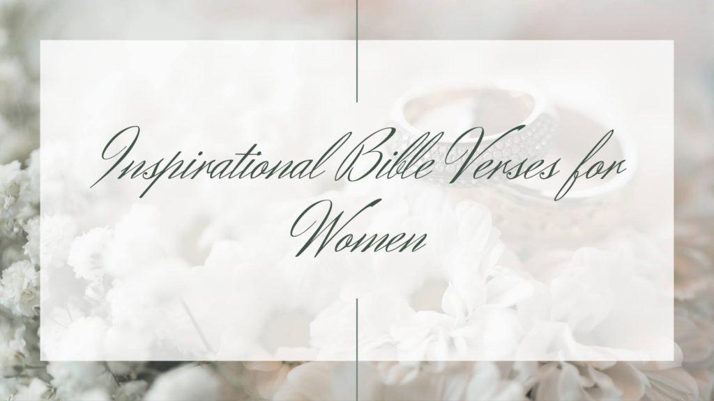 inspirational bible verses for women
