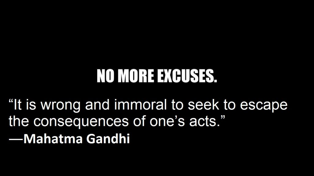 Quotations on Excuses