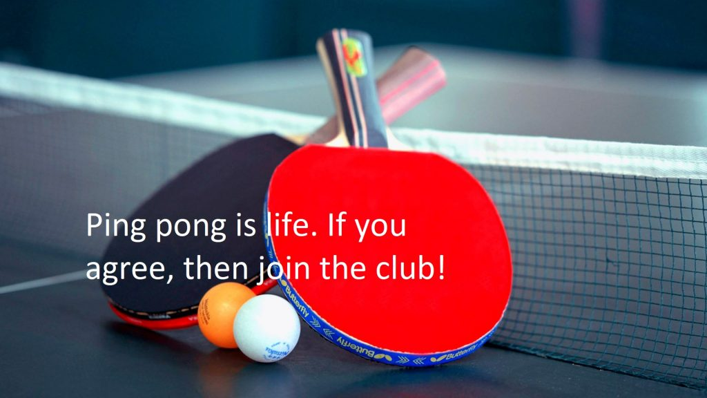Table Tennis Quotes