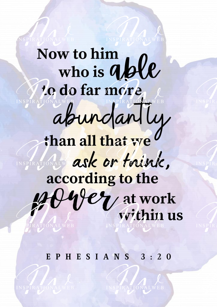 Ephesians 3 vs 20 printable bible verse
