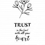 printable bible verse, proverbs 3vs5